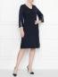 Платье с V-образным вырезом , прямого кроя Marina Rinaldi  –  МодельОбщийВид