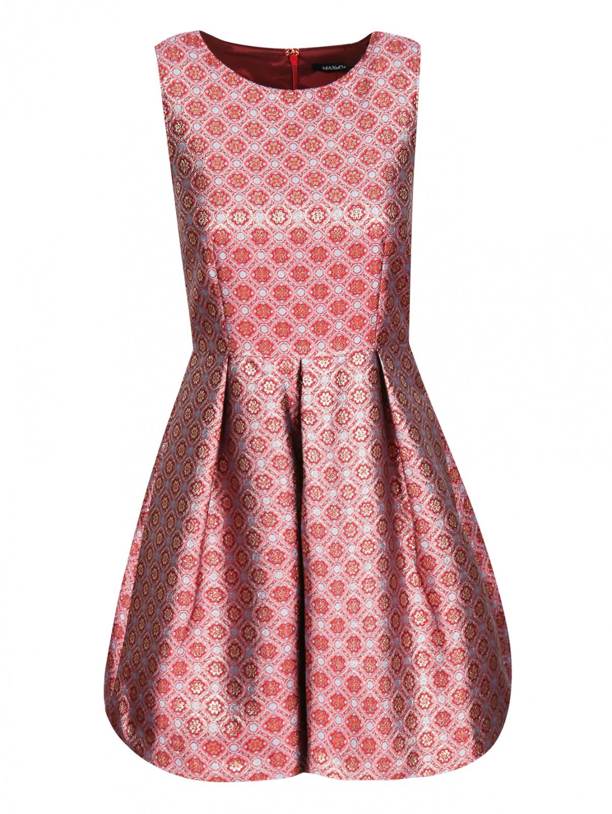 Платье-мини с узором без рукавов Max&Co  –  Общий вид