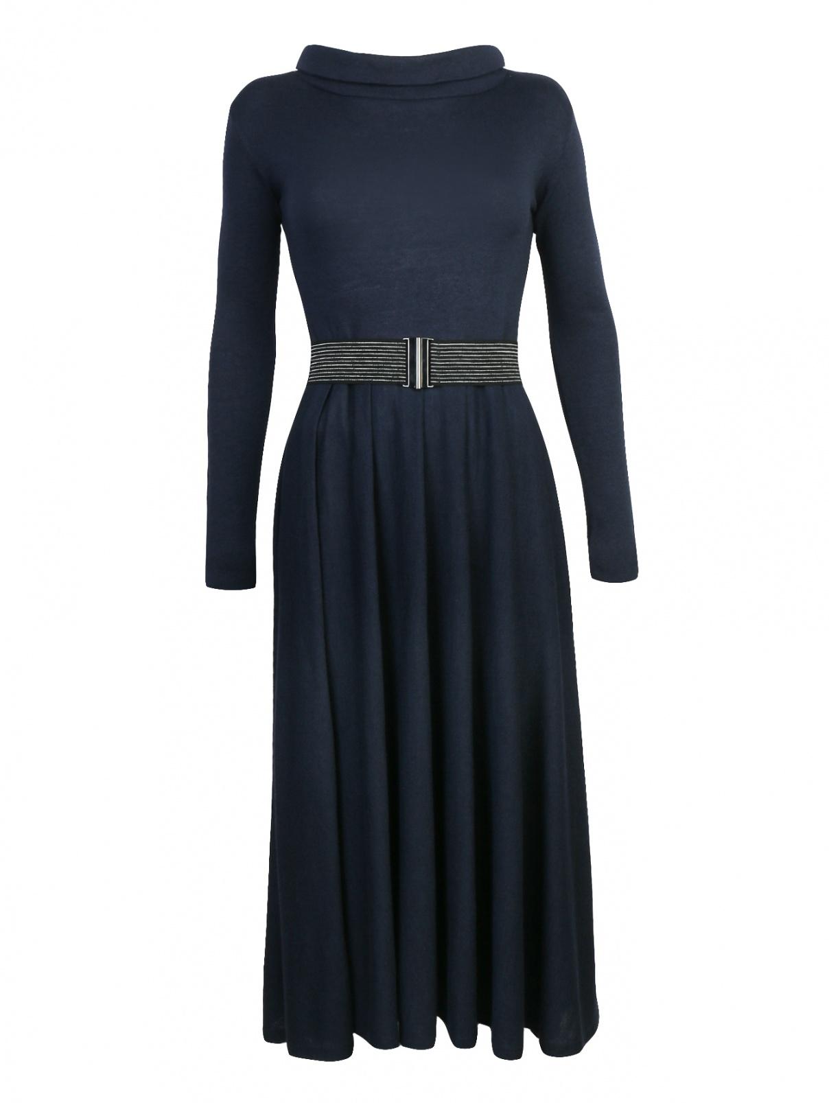 Платье-миди из смешанной шерсти с поясом Max&Co  –  Общий вид