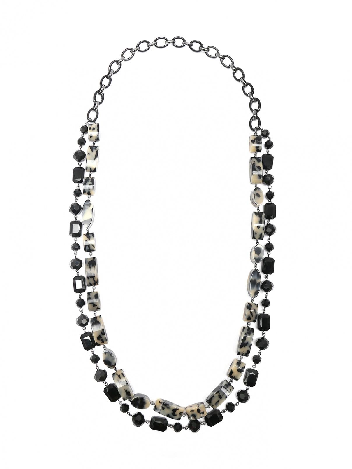 Ожерелье из стекла и металла Max Mara  –  Общий вид  – Цвет:  Узор