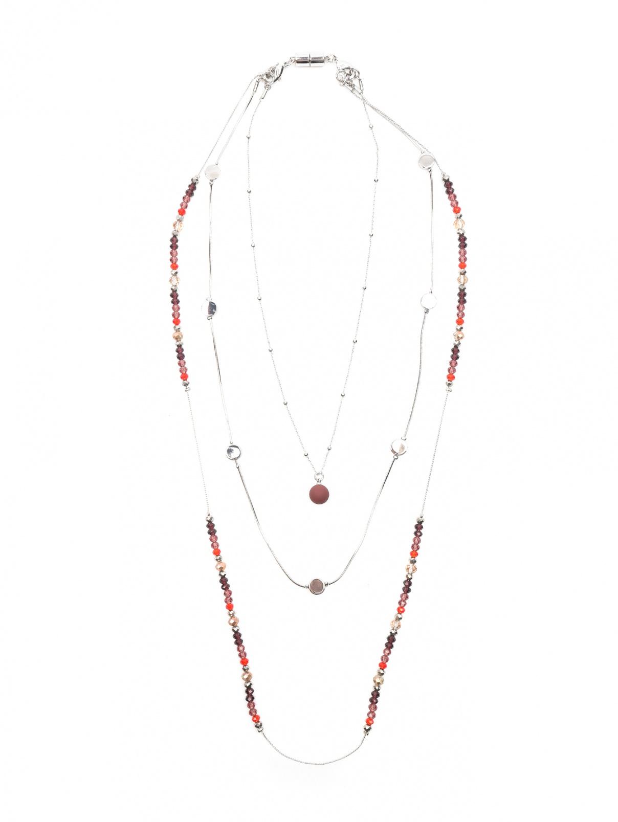 Колье из металла с кристаллами Max&Co  –  Общий вид  – Цвет:  Мультиколор