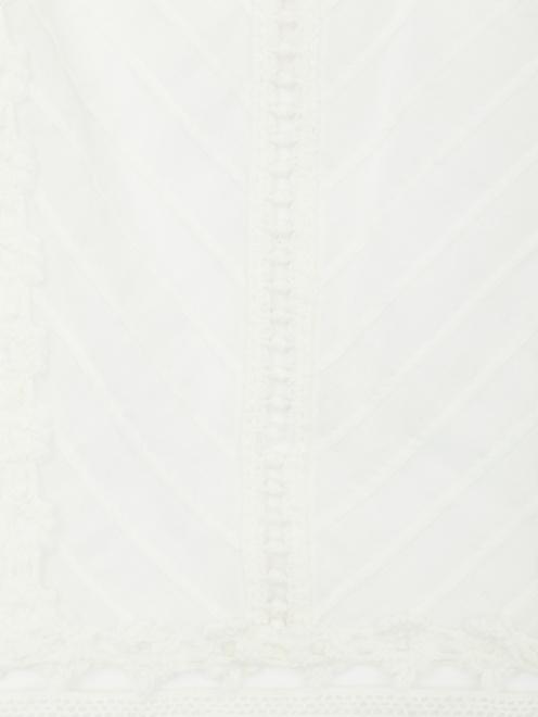 Топ из хлопка с кружевной отделкой - Деталь