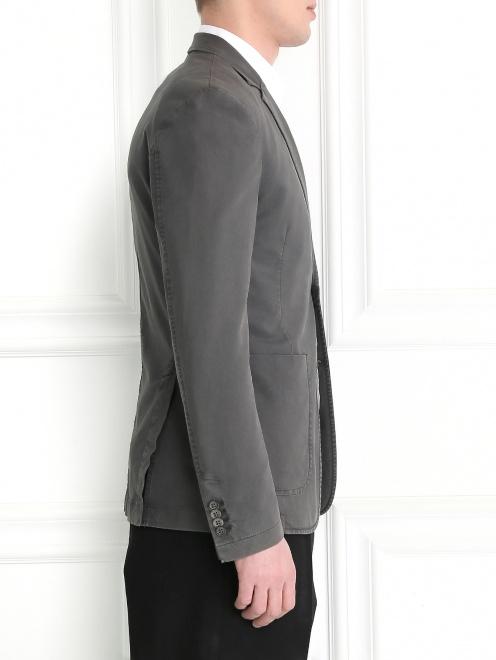 Пиджак однобортный из хлопка  - Модель Верх-Низ2