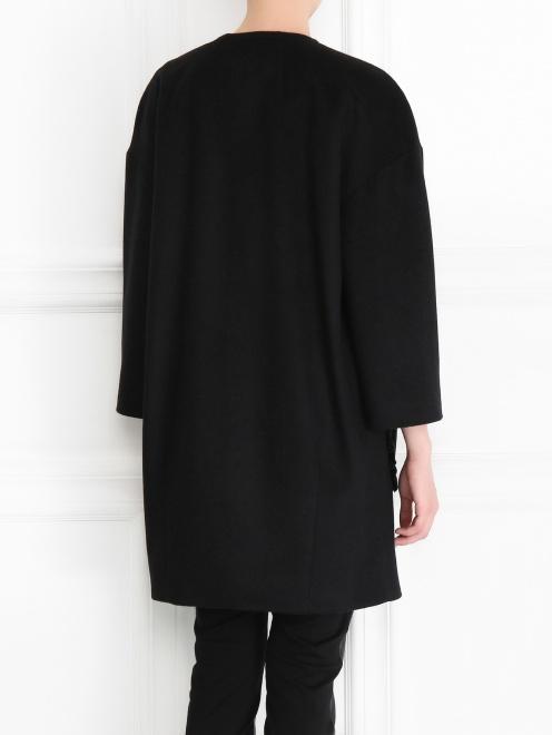 Однобортное пальто из шерсти - МодельВерхНиз1