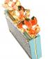 Сумка из кожи под рептилию с металлическим декором DEBORAH SAWAF  –  Деталь