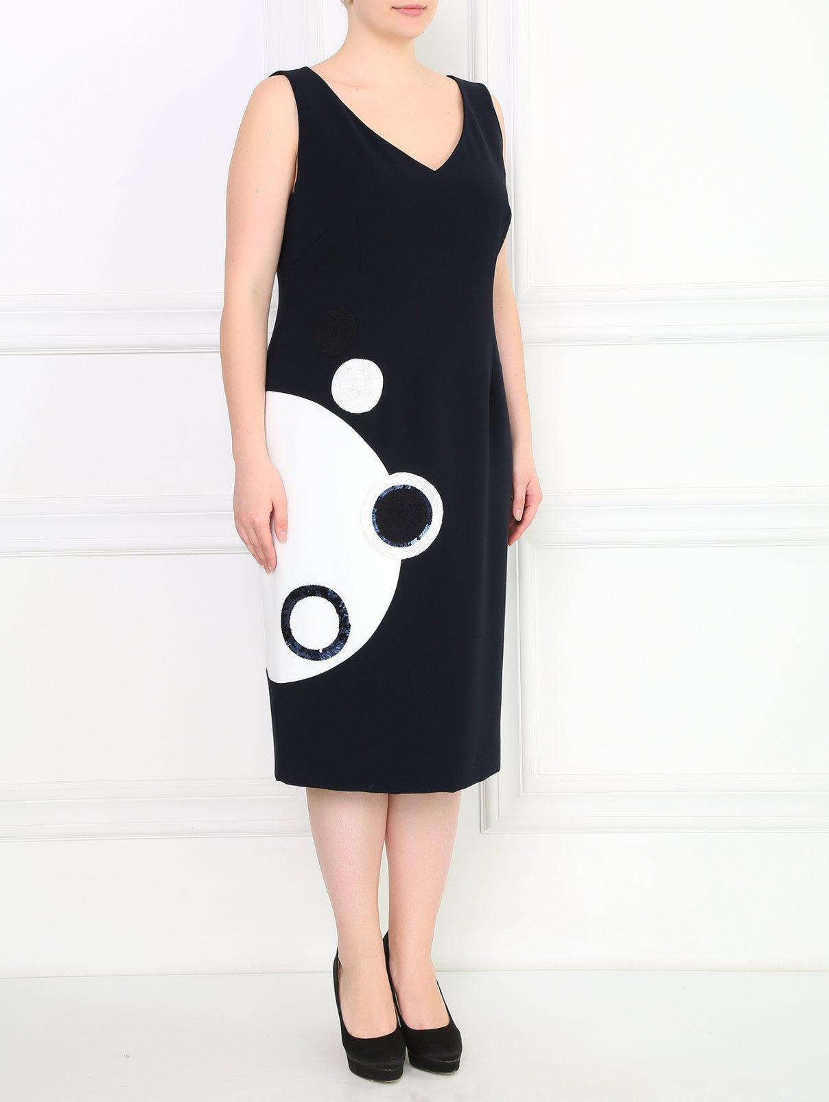 Платье-футляр с аппликацией Marina Rinaldi  –  Модель Общий вид