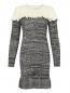 Трикотажное платье из шерсти фактурной вязки Philosophy Di Lorenzo Serafini  –  Общий вид