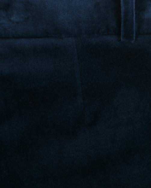 Бархатные брюки-клеш с боковыми карманами  - Деталь1