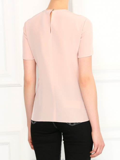 Блуза из шелка с ажурной вышивкой - Модель Верх-Низ1