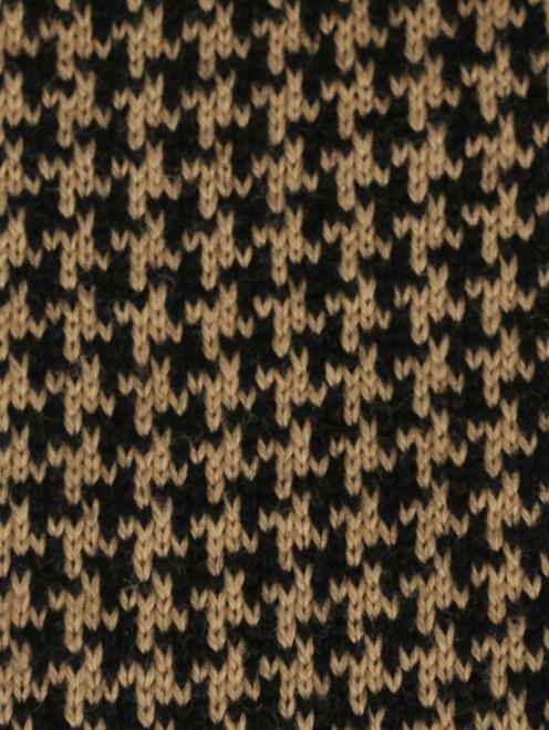 Галстук трикотажный из шерсти с узором  - Деталь1
