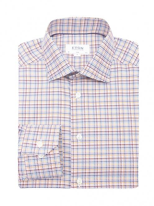 """Рубашка из хлопка с узором """"клетка"""" - Общий вид"""