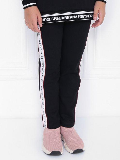 Спортивные брюки с лампасами - МодельВерхНиз