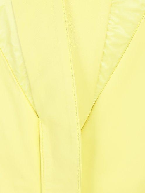 Куртка укороченая, кожаная  - Деталь1