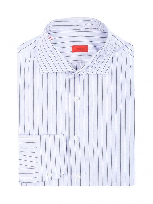 """Рубашка из хлопка с узором """"полоска""""  - Общий вид"""