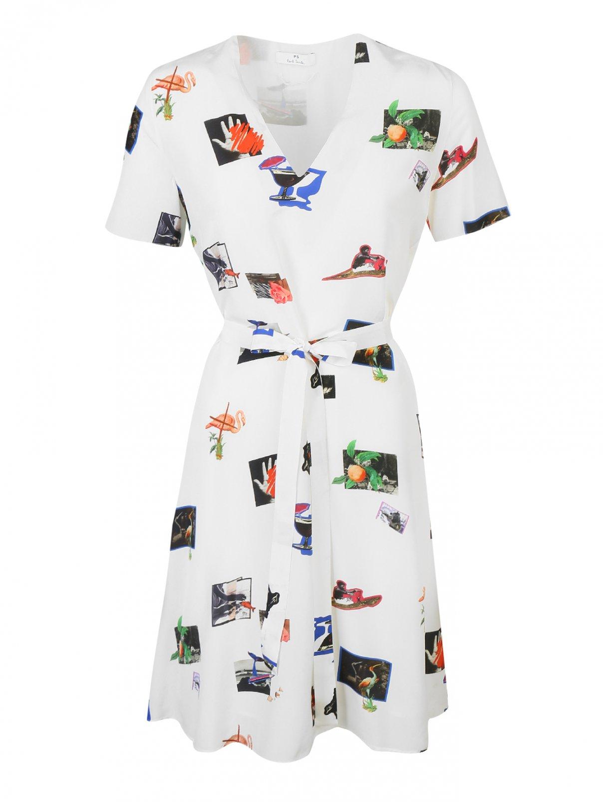 Платье шелковое с узором Paul Smith  –  Общий вид