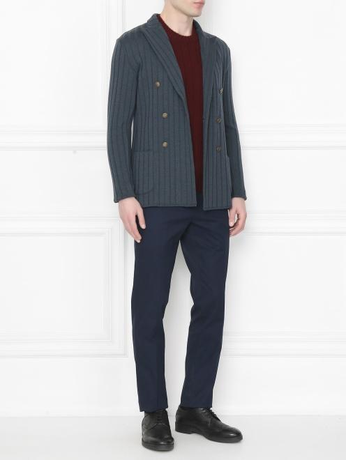Пиджак двубортный из шерсти - Общий вид