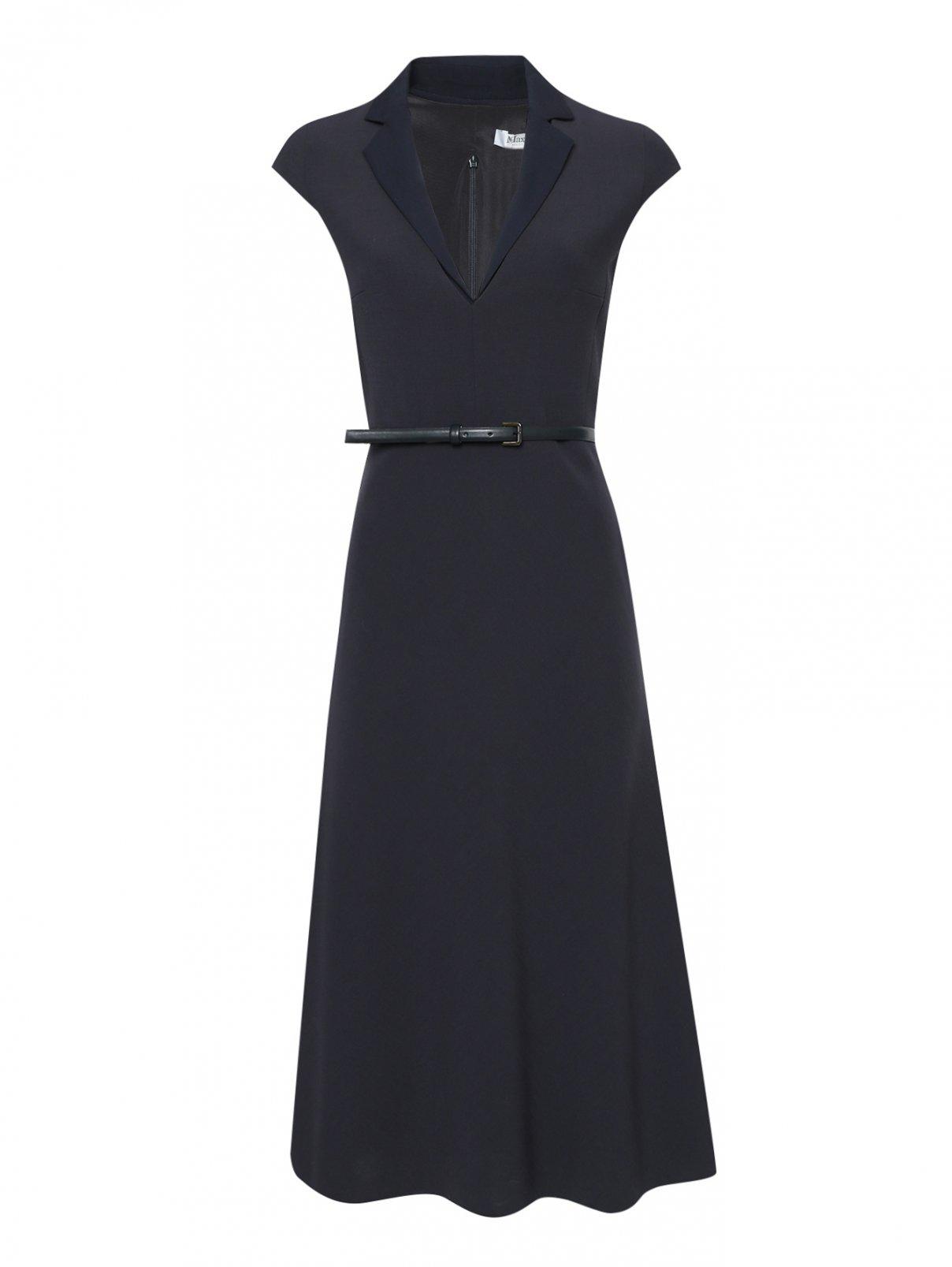 Платье из шерсти со сложным воротником Max Mara  –  Общий вид