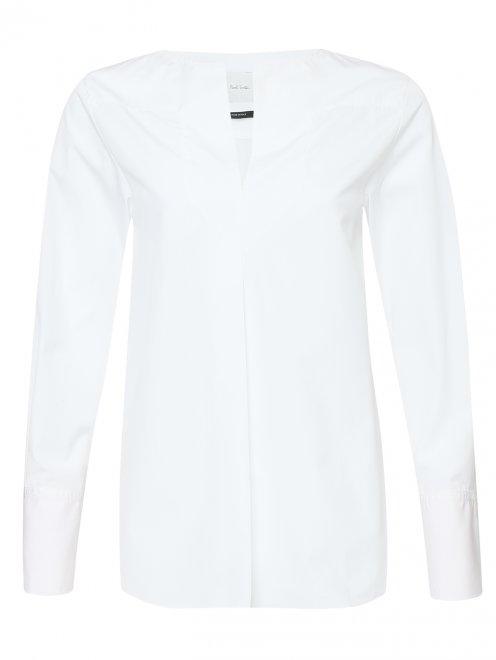 Блуза из хлопка свободного кроя - Общий вид
