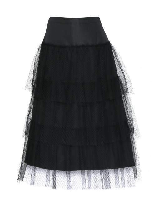Юбка-миди декорированная сеткой - Общий вид