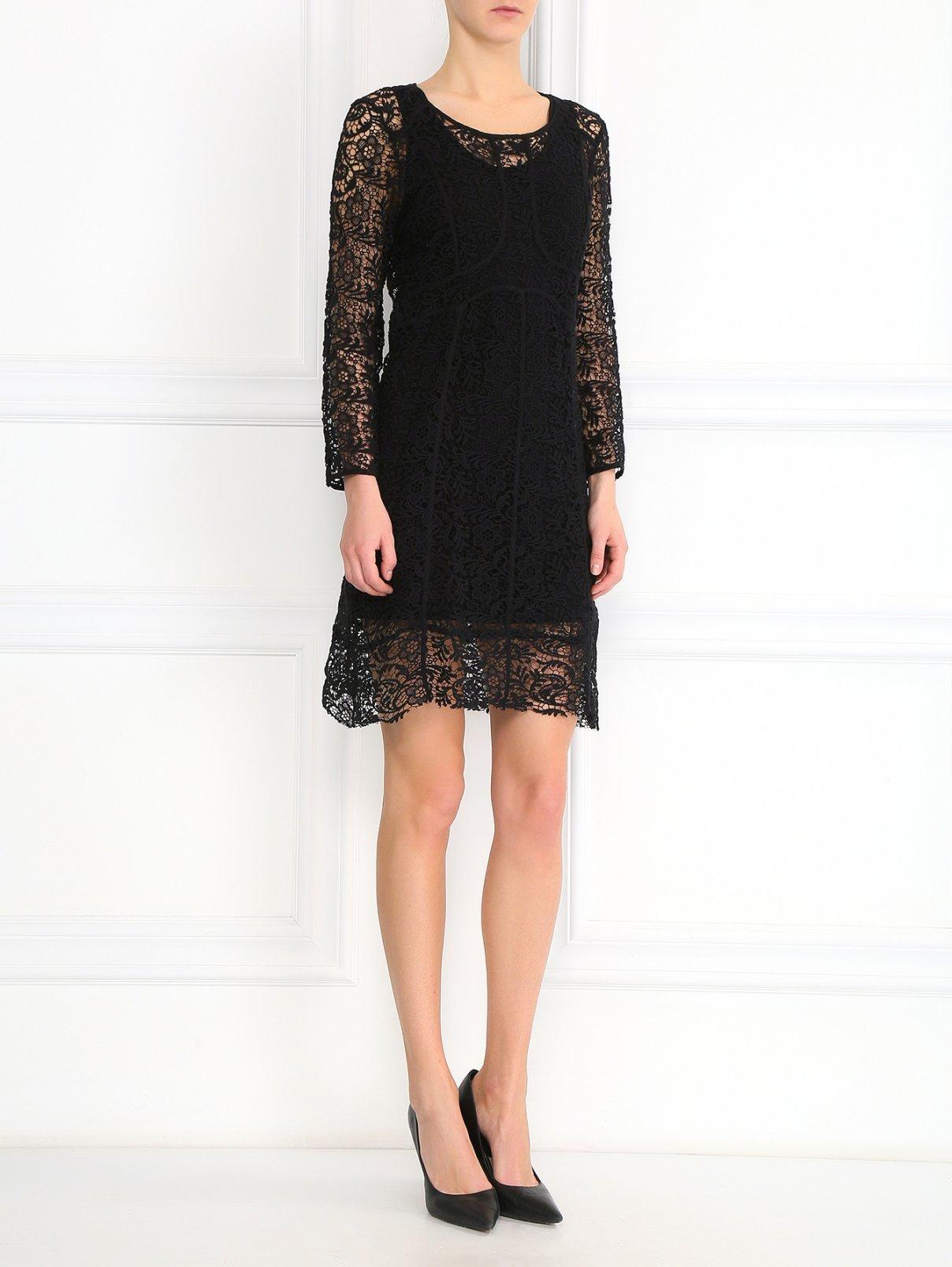 Платье их хлопкового кружева American Retro  –  Модель Общий вид  – Цвет:  Черный