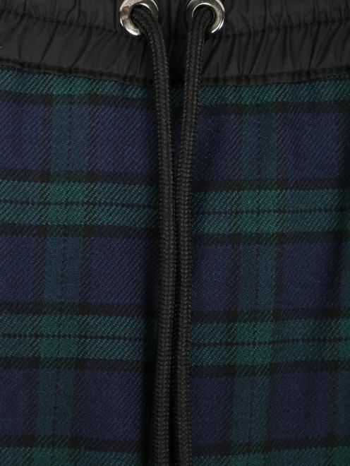 Укороченные брюки из шерсти в клетку - Деталь1