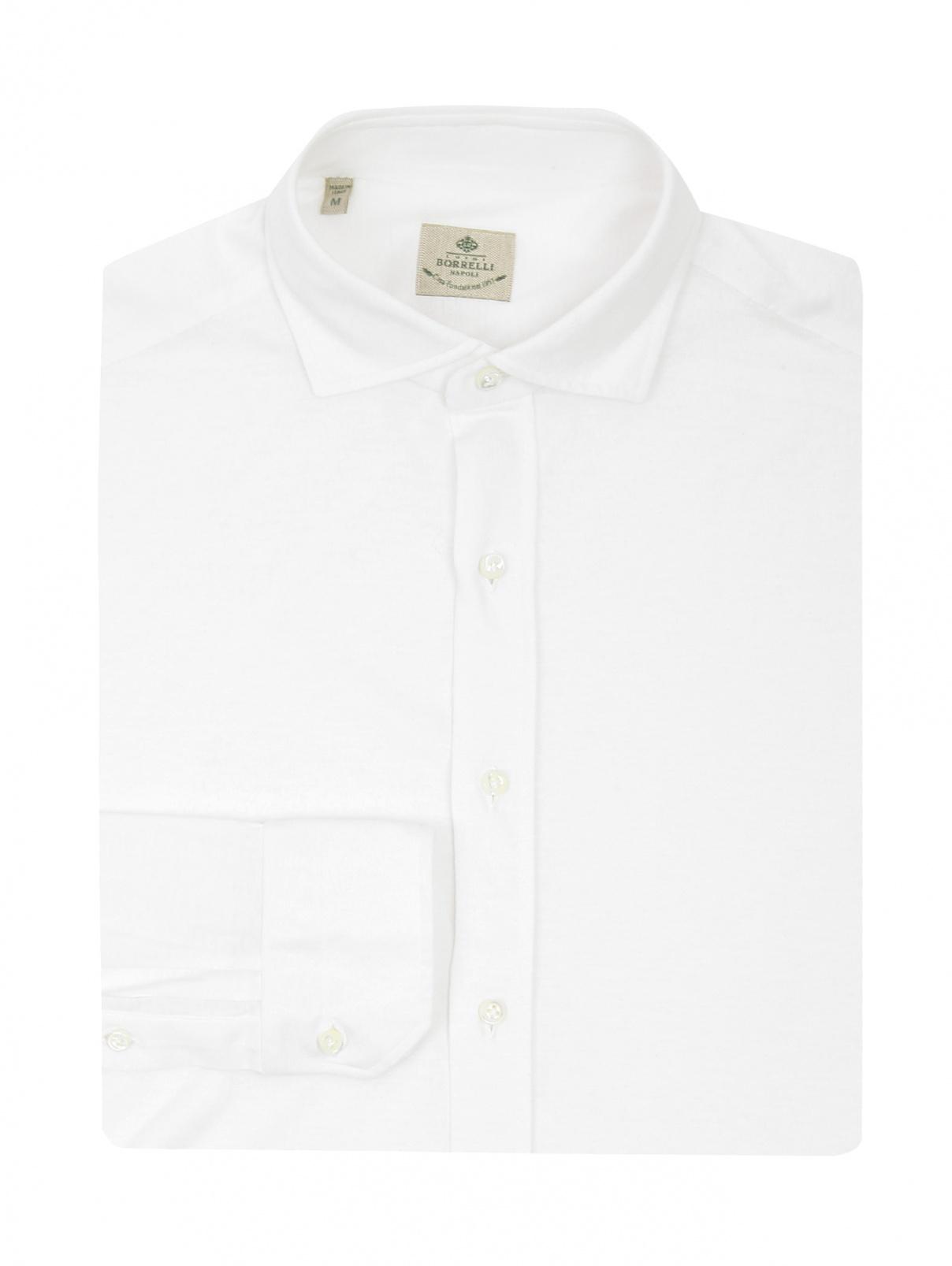 Рубашка из хлопка Borrelli  –  Общий вид  – Цвет:  Белый