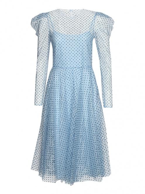 Платье из сетки в горох  - Общий вид