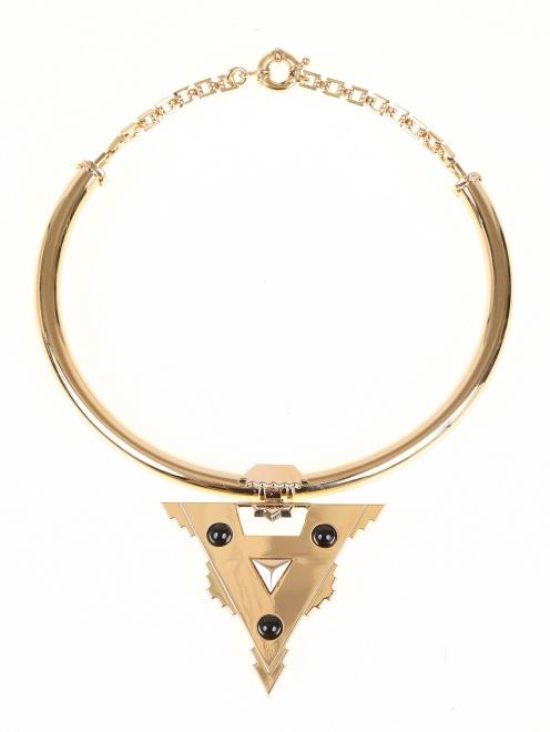 Ожерелье из латуни с яшмой - Общий вид