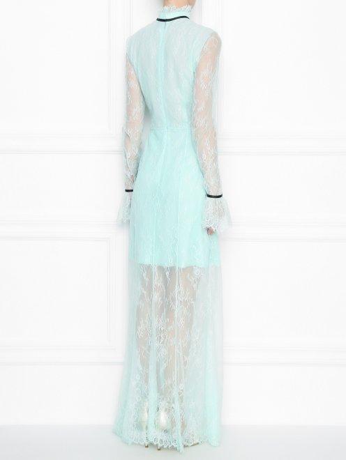 Платье-макси из кружева с контрастной отделкой - МодельВерхНиз1