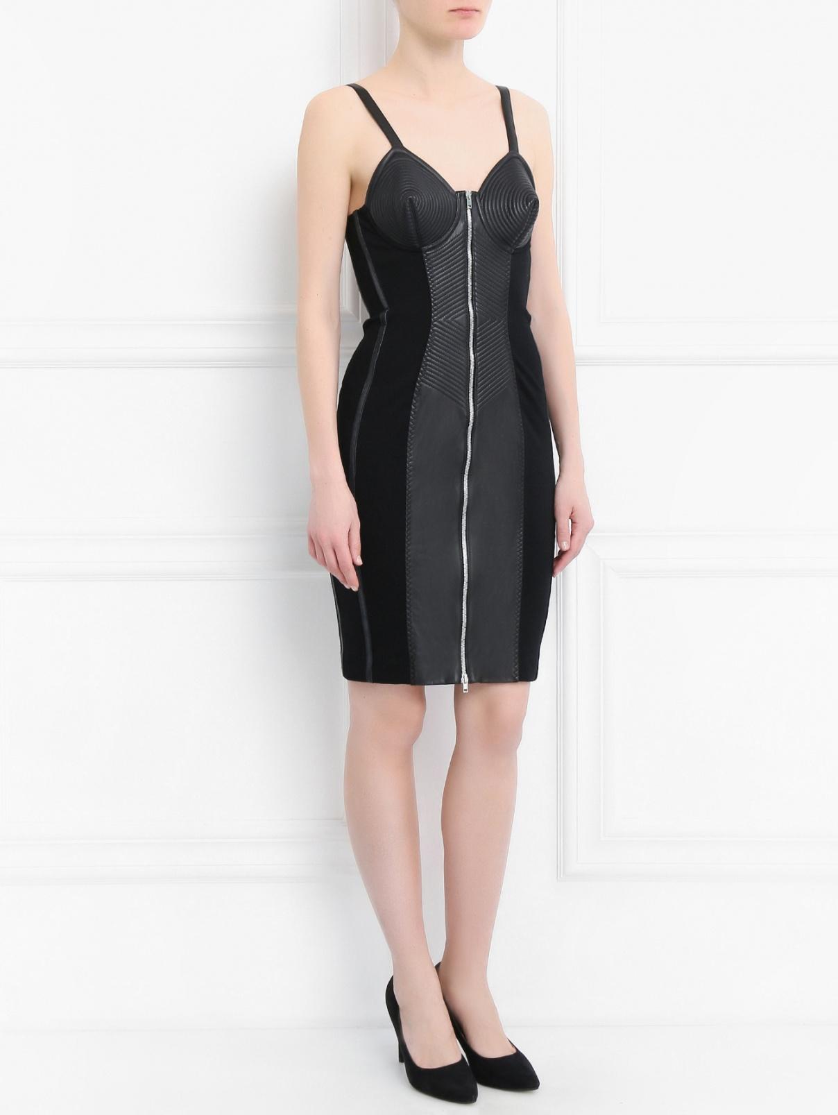 Платье из шерсти с контрастной отделкой Jean Paul Gaultier  –  Модель Общий вид