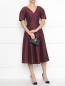 Платье из хлопка и шелка с боковыми карманами Weekend Max Mara  –  МодельОбщийВид