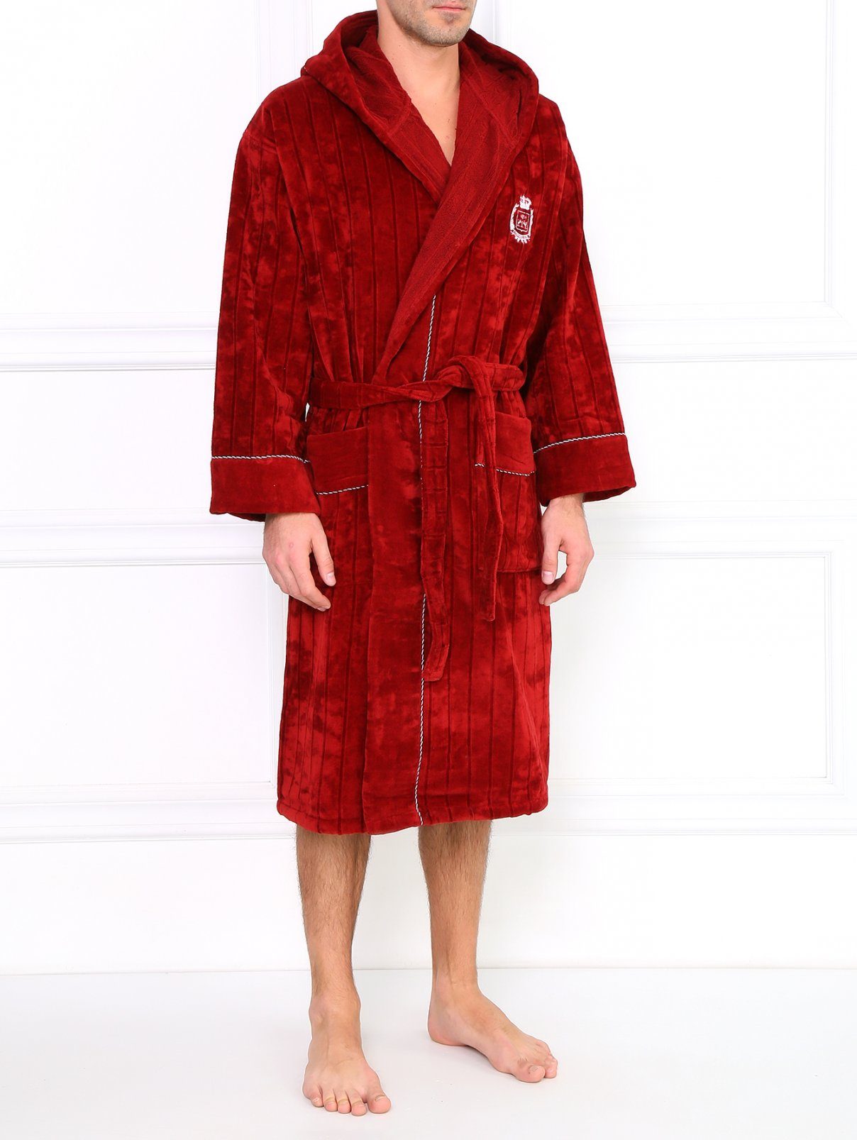 Махровый халат из хлопка Corneliani  –  Модель Общий вид