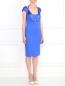Трикотажное платье-мини на широких бретелях Versace Collection  –  Модель Общий вид