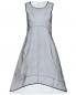 Платье-миди из полиэстера и хлопка с контрастной отделкой Jil Sander  –  Общий вид
