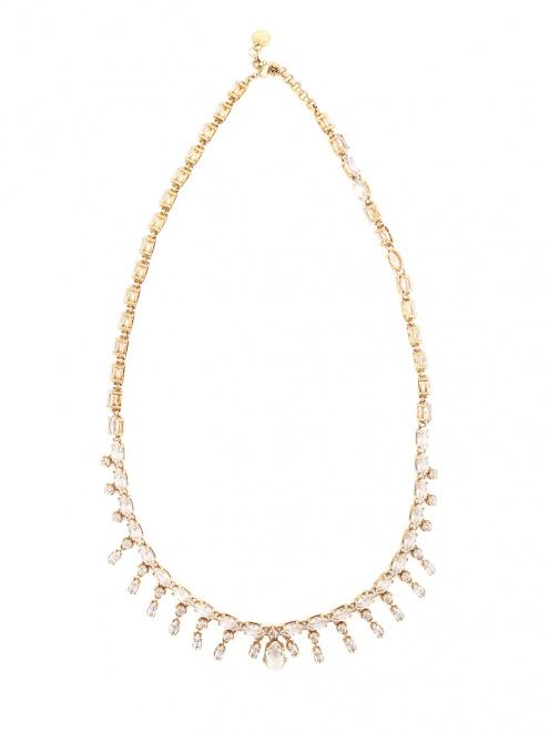 Ожерелье из металла декорированное кристаллами - Общий вид
