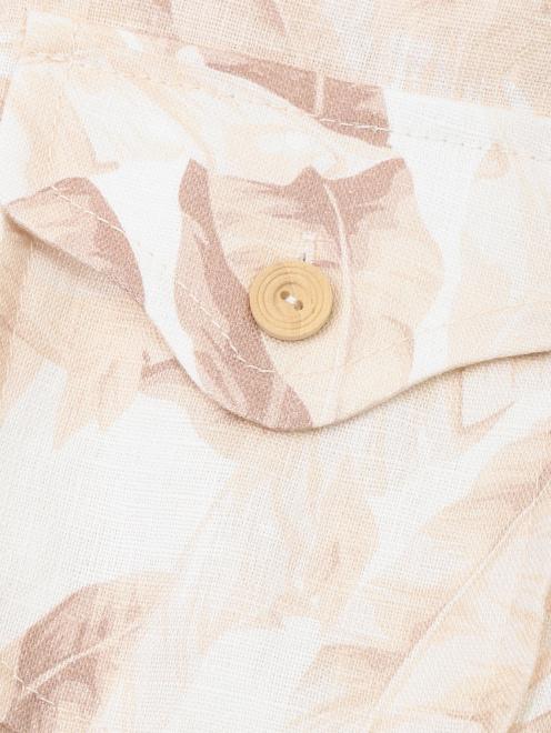 Комбинезон из льна с поясом  - Деталь1