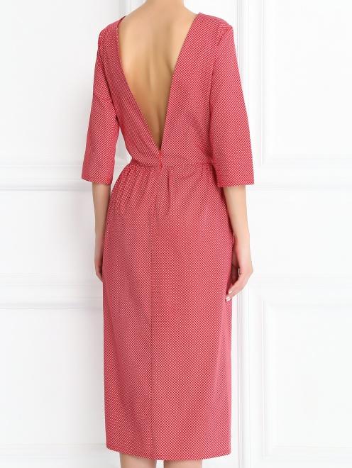Платье-миди из хлопка с узором - Модель Верх-Низ1