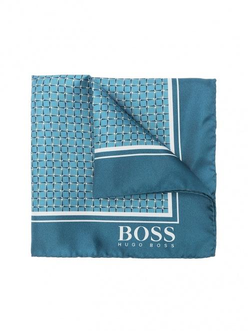Карманный платок из шелка с узором - Общий вид