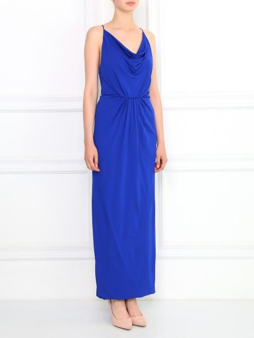 Платье-макси с драпировкой - Модель Верх-Низ