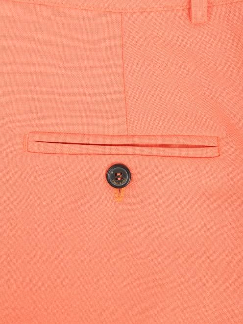 Шорты-юбка из смешанной шерсти - Деталь