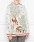 Джемпер с капюшоном из шерсти с рисунком Alberta Ferretti  –  МодельВерхНиз