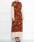 Платье-макси из шелка с узором Weekend Max Mara  –  МодельВерхНиз