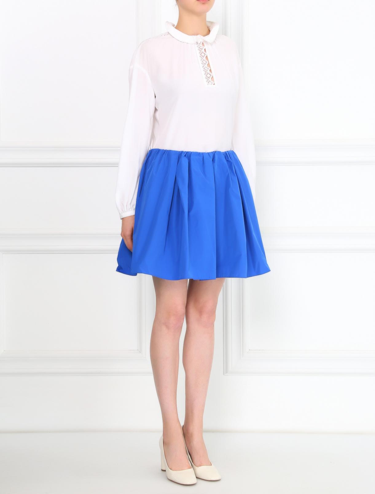 Однотонная юбка-мини Carven  –  Модель Общий вид