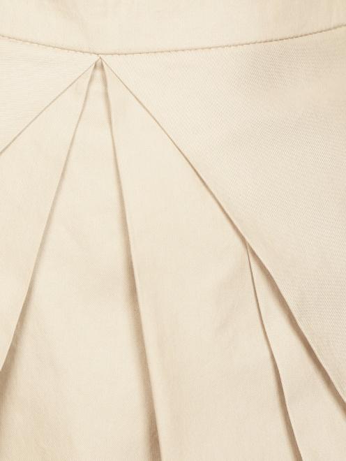 Юбка-трапеция из хлопка с драпировкой - Деталь1