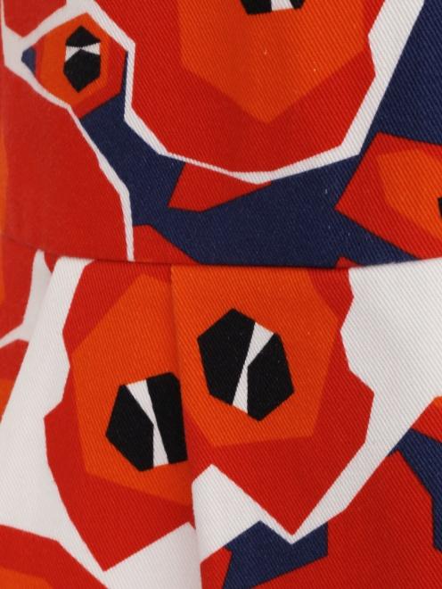 Платье из хлопка с цветочным узором - Деталь