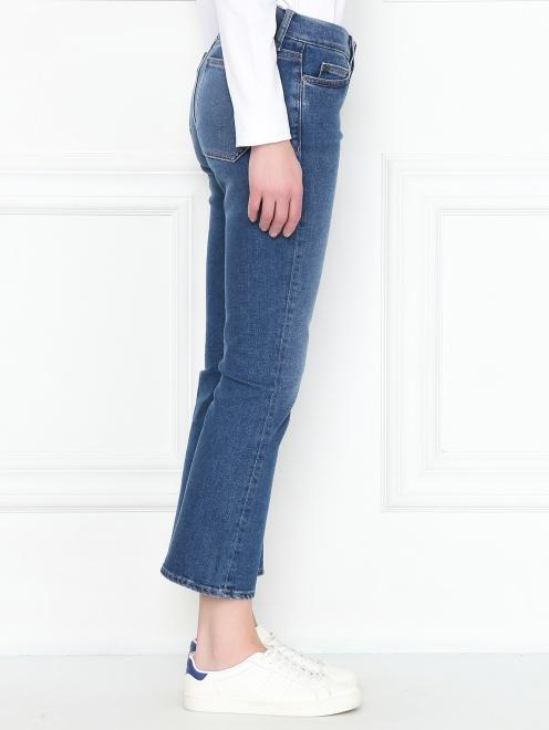 Укороченные джинсы расклешенного кроя - МодельВерхНиз2