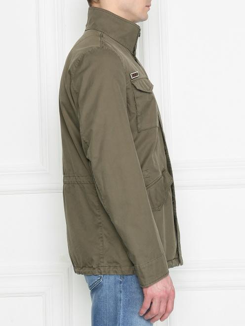 Куртка из хлопка с нашивками - МодельВерхНиз2