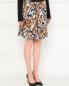 Юбка-мини из шелка с цветочным узором Marc by Marc Jacobs  –  Модель Верх-Низ