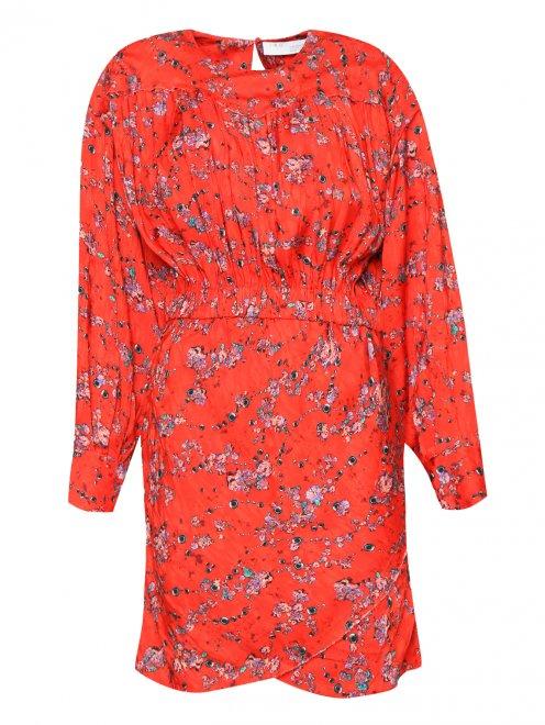 Платье свободного кроя с узором - Общий вид
