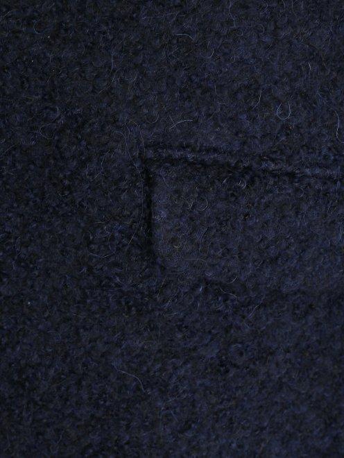 Пальто свободного кроя с накладными карманами - Деталь1